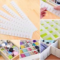 6 cái/bộ Nhựa Điều Chỉnh DIY Lưới Drawer Ngăn Organizer Phân Vùng Tủ Nhu Yếu Phẩm Gia Dụng Lưu Trữ Organizer