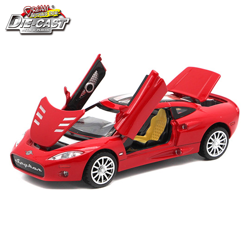 Diecast Scale Model Spyker C8 Metal Car Toys For Kids As Present With Scissor Door