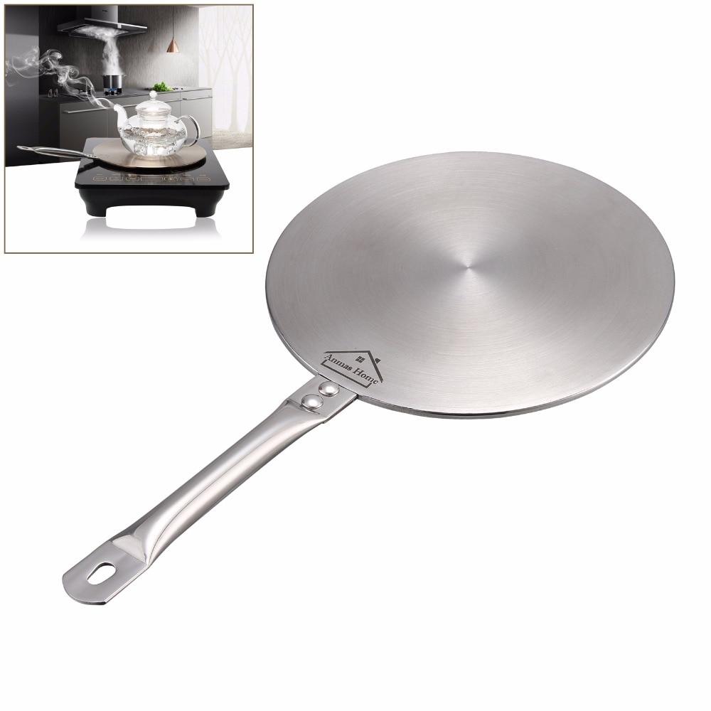 Новый 8,2 ''индукционная плита термальность направляющая пластины, Индукционная конвертер плиты диск нержавеющая сталь плиты кухонная