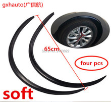 6.5cm*4pcs Car Fender Flares Arch wheel Eyebrow Auto Mudguard Fender Flare wheel lip Body kit Protector Cover Mudguard Universal yi 238 universal plastic car fender flares wheel lips black silver grey 2 pcs