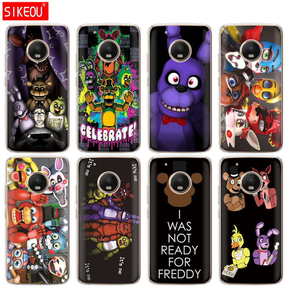 Silicone Case Phone Cover For Motorola Moto G6 G5 G5S Z2 Z3 PLAY PLUS X4 E4 E5 C Five Nights At Freddy's Fnaf Freddy