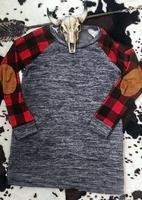 2018 New Autumn Winter Women T-Shirt Full Long Sleeve Plaid Splicing O-Neck Baseball Female T-Shirt Casual Ladies   Tops     Tee