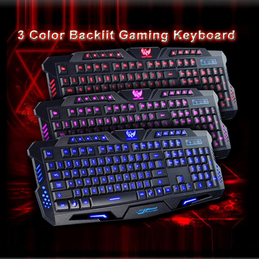 2017 top sale new 3 colors crack illuminated led backlight usb wired multimedia pc gaming. Black Bedroom Furniture Sets. Home Design Ideas
