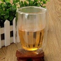 New Arrival 250ml Double Layer Glass Cup Heat Resistant Coffee Milk Tea Juice Milk Beer Mugs