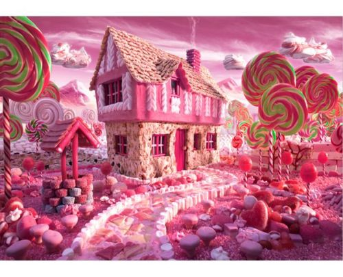 7x5ft pink candy land ice cream house cottage bars garden custom
