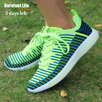 New Green Color Athletic Sport Running Shoes Woman And Man Computer Woven Soft Good Comfortable Shoes