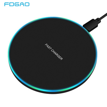 FDGAO 10W Fast Wireless Charger For Samsung Galaxy S10 S20 S9 Note 10 9 USB Qi Charging Pad for iPhone 11 Pro XS Max XR X 8 Plus 1
