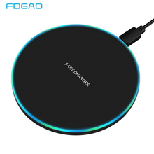 Fdgao 10W Snelle Draadloze Oplader Voor Samsung S10 S20 S9 Note 10 9 Usb Qi Charging Pad Voor Iphone se 11 Xs Xr X 8 Plus Airpods Pro