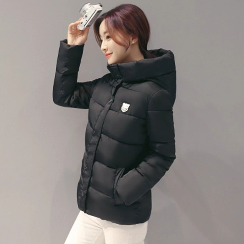 new 2017 winter hooded jacket women cotton wadded overcoat short slim casual fashion ladies parkas XXXL cotton coats RE0067 winter cotton coats woman new women thicken long wadded jackets fashion ladies winter warm slim cotton parkas overcoat h4625