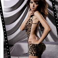 Сексуальный Леопарда женская One Piece Платье Белье V-образным Вырезом Холтер Спинки Ночные Сорочки и Трусы