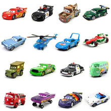 Cars Disney Pixar 2 & 3 Jackson Storm Ramirez Mater Huston Lightning McQueen 1:55 Diecast Metal Alloy Toy Car