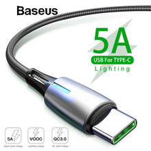 Baseus Upgrade 5A Quick Charge 3.0 USB Type C Cable for Huawei P20 Lite Pro 2A Fast Charge Cable for samsung galaxy s9 s8 Plus