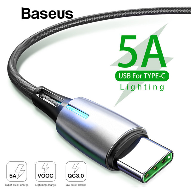 Baseus Upgrade 5A Quick Charge 3.0 USB Type C Cable