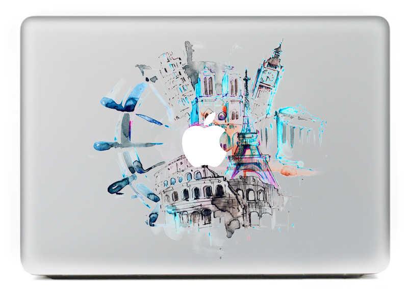 אישיות DIY העולם פטיפון ויניל מדבקות מדבקה למחשב נייד macbook עור נייד קריקטורה מעטפת עבור mac Pro אוויר 13 inch ספר