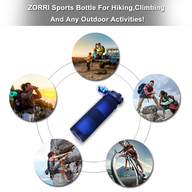 TRITAN Copolyester Plastic Sport Water Bottle With Filter