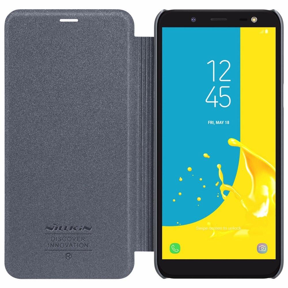 Cassa del telefono per Samsung Galaxy J6 2018 NILLKIN Sparkle custodia in pelle PU Caso della copertura di vibrazione con Venduta Al Dettaglio Pacchetto