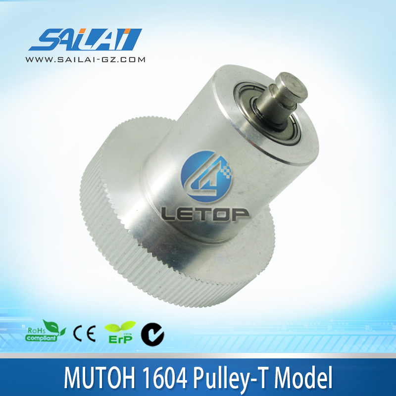 On sale!! Printing parts T type belt pulley for mutoh 1604 machine hot sale 1000ml roland mimaki mutoh textile pigment ink in bottle color lc for sale