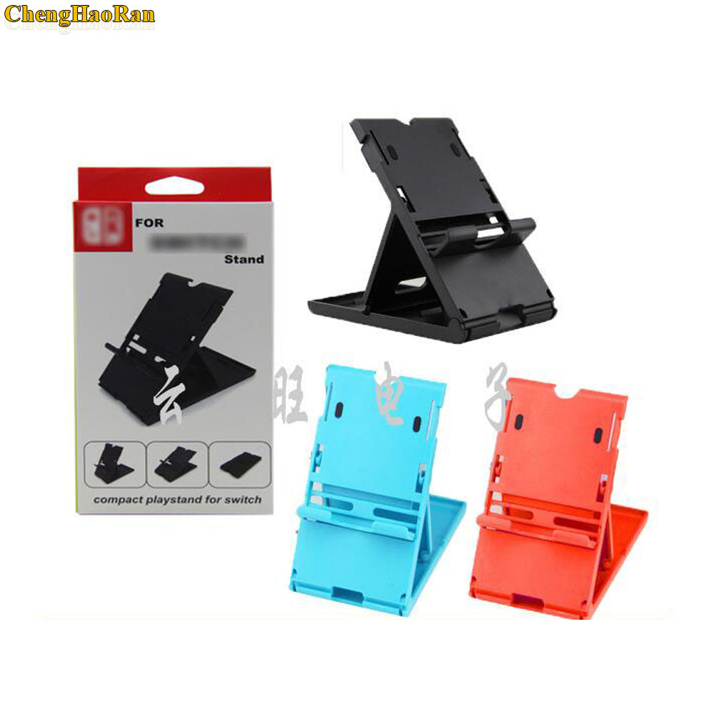 Image 2 - 1pc 5pcs 10pcs NS Switch PlayStand Vertical stand clip For Nintendo Switch NS Console Holder black blue red-in Replacement Parts & Accessories from Consumer Electronics