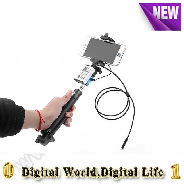 7mm Monopod phone Selfie stick wifi endoscope camera 6LED 1/3.5/5M cable IP66 iOS Android Phone inspection Borescope endoscope