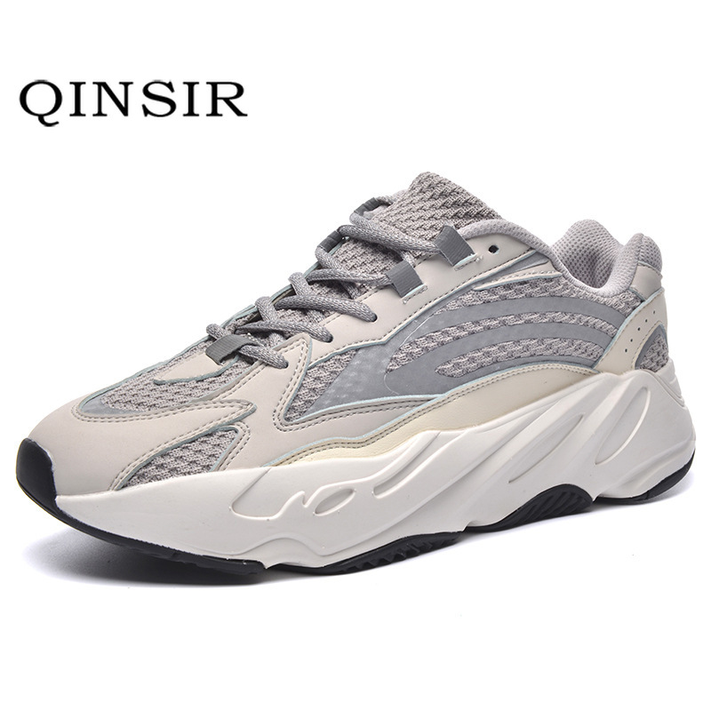 Yee zi 700 Boost Men Casual Air mesh Shoes Lovers Couple Sneakers Man Walking Shoes Brand Outdoor Reflective flat Shoes v2
