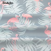Booksew Cotton Twill Fabric Red-crowned Crane Design Home Textile For Patchwork Bedding Baby Pillow Cushion Quilting Tela Cloth(China)