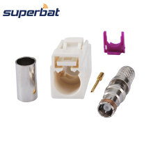 Superbat Fakra B белый/9001 Радио обжимной женский разъем с Phantom RF коаксиальный разъем для кабеля RG58 LMR195
