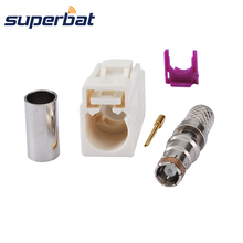 Superbat Fakra B White/9001 Radio Crimp Female 잭 와 Phantom RF 동축 Connector 대 한 Cable RG58 LMR195(China)