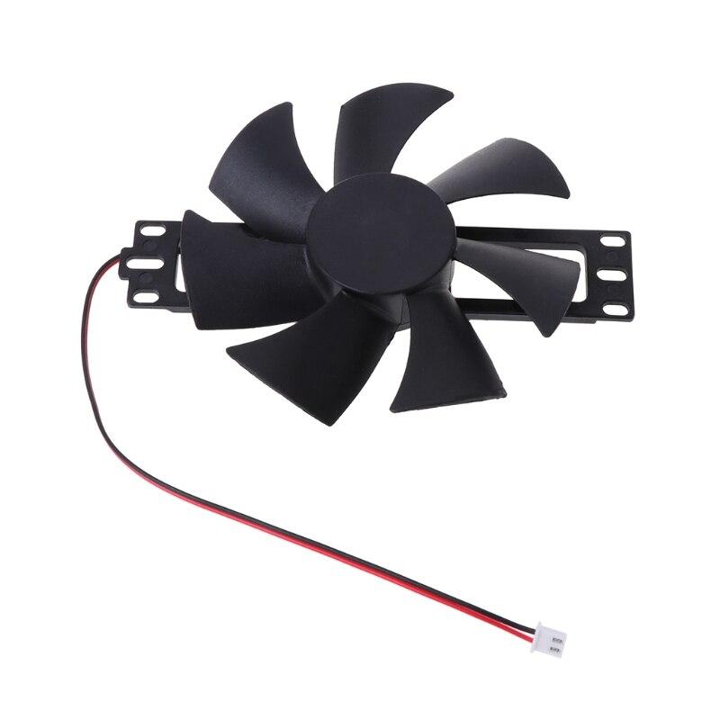 Ventilador de refrigeração sem escova plástico preto do fã da c.c. 18 v para acessórios do reparo do fogão de indução