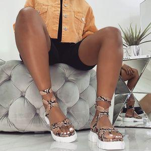 Image 4 - Женские сандалии гладиаторы Perixir, богемные летние сандалии на танкетке с лентами и открытым носком, повседневная обувь из пеньки