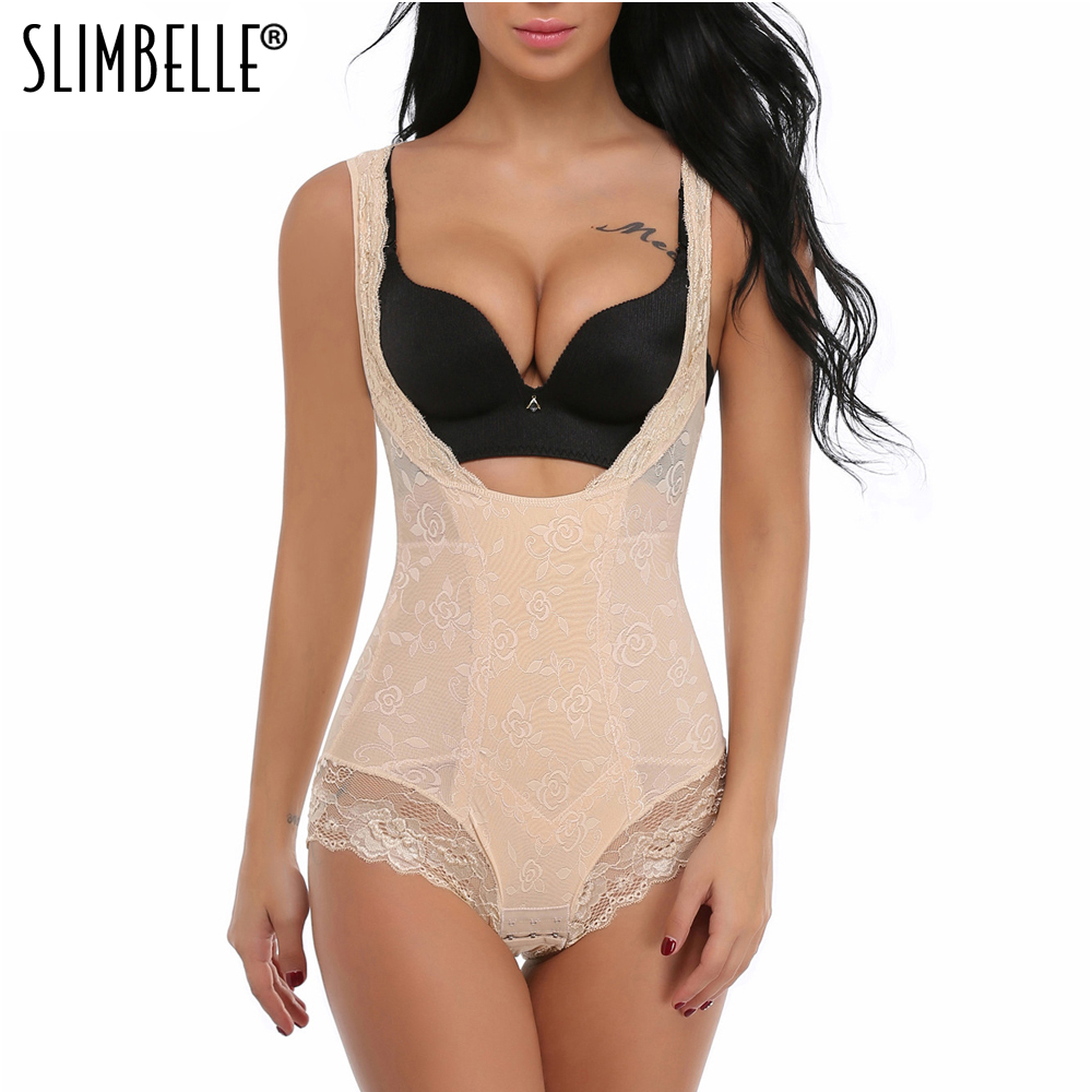 Full Body Shaper Women Bodysuits Waist Trainer Corset Floral Girdle Plus Size Shapewear Tummy Control Waist Cinchers Underwear