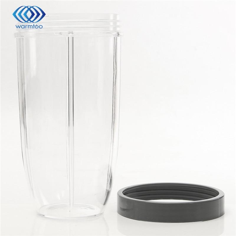 32Oz Plastic Grey Transparent Replacement Cup With Lid For Nutribullet For Nutri For Bullet Blender Juicer Parts