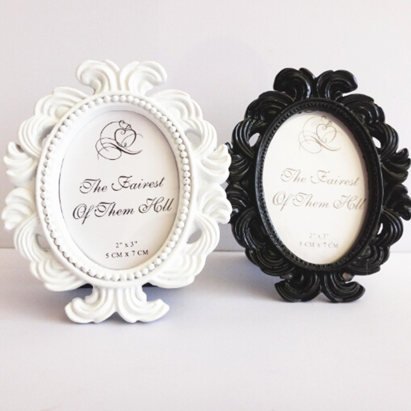 The Baroque Themed Oval Picture Frame White/Black Photo Frames ...