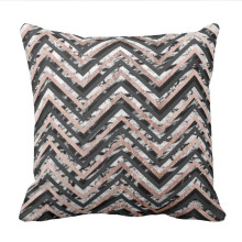 Black and White Marble Rose Gold Chevron Zigzag Throw Pillow case юбка top secret top secret mp002xw1gzi7