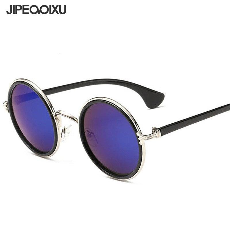 Jipemixu Bulat Kacamata Pria Wanita Vintage Merek Desain Mempesona Warna  Matahari Kacamata Merah Muda Hitam Coklat e4dfd36452