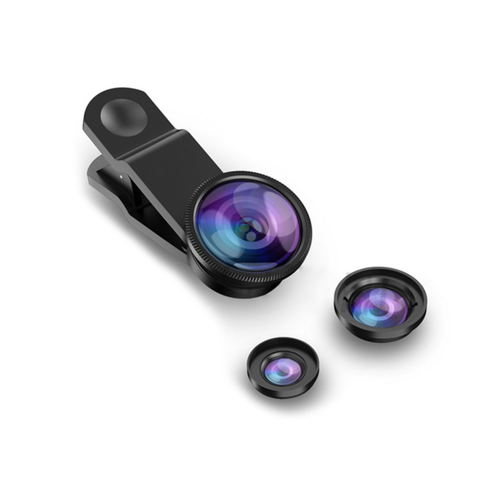 Wide Angle Macro Fish Eye Lens Universal 3 in1 <font><b>Camera</b></font> Mobile <font><b>Phone</b></font> Lenses for iPhone Smartphone <font><b>Accessories</b></font> image