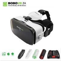 Original BOBOVR Z4 Leather 3D vr Cardboard Helmet Virtual Reality VR 3d Glasses Headset Stereo goggles Box for Xiaomi phone 2.0