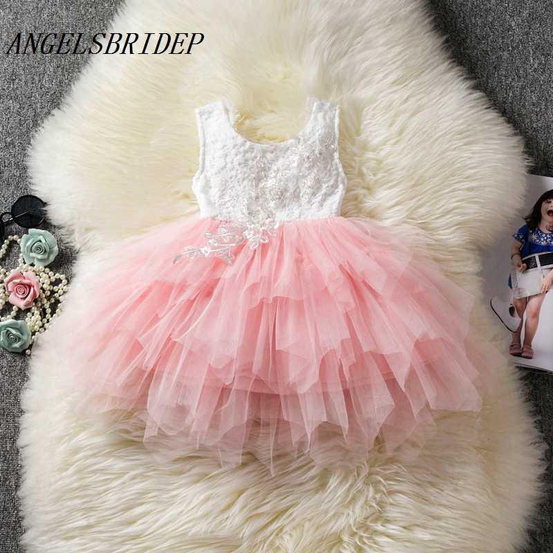 ANGELSBRIDEP פרח ילדה שמלות המפלגה טול קודש הקודש פרח בנות ילדי כדור שמלות תחרות שמלות