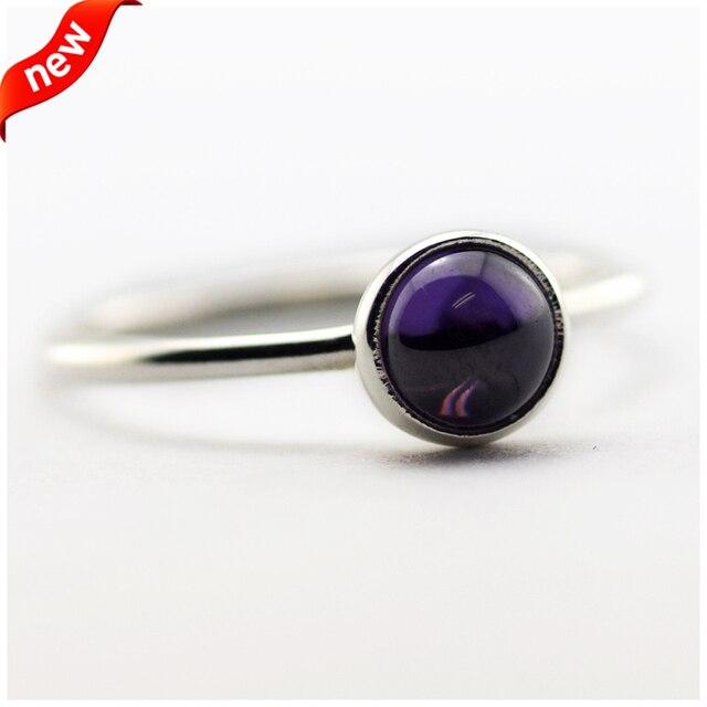 Подходит Европейские Ювелирные Изделия СКК 925 Серебряные Кольца для Женщин DIY Создание Фиолетовый Поэтические Капли Серебряное Кольцо Размер 52-28 # FLR078A
