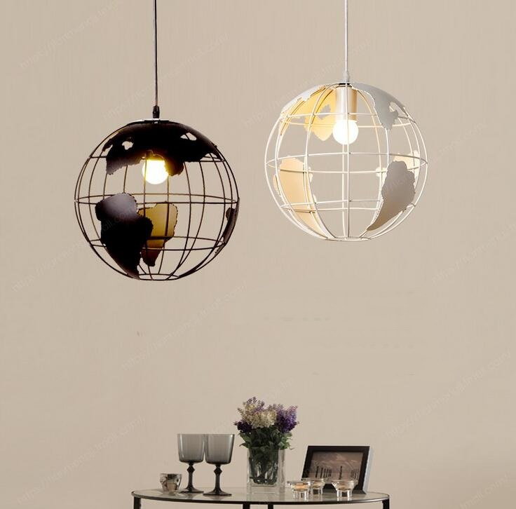Retro Industry Round Ball Iron Lounge Bar Casual Pendant