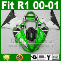 Metallic green fairings for YAMAHA YZF R1 2000 2001 ABS plastic kit YZFR1 00 01 1000 YZF R1 fairing kits parts T9J6