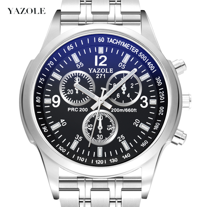 YAZOLE Men Watches 2017 Top Brand Luxury Famous Quartz Watch Mens Clock Male Wrist Watch For Men Quartz-watch Relogio Masculino curved end stainless steel watchband for citizen men women watch band butterfly buckle strap wrist bracelet 18mm 20mm 22mm 24mm