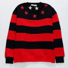 Neue 2017 VanMe Bestickte Sterne Stripes Unisex Hoodie Hoody mit kapuze Sweatershirt samt Baumwolle Drake Verdicken Fleece S-2XL # C44