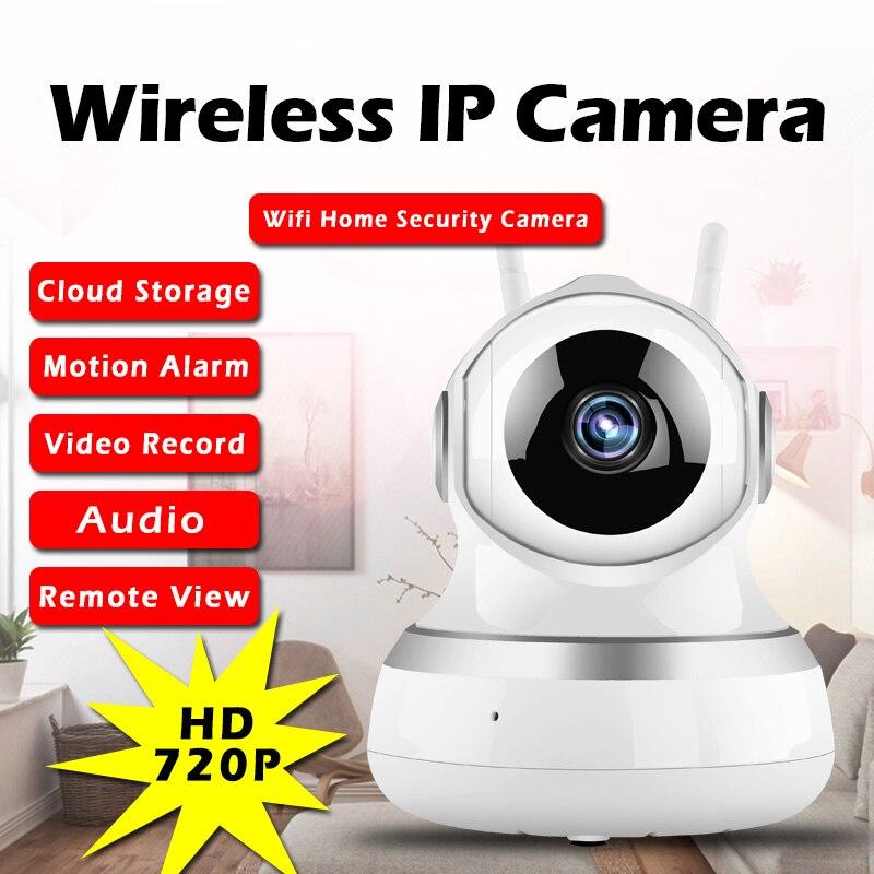 imágenes para 720 P Cámara IP WIFI Cámara de Vigilancia de Seguridad Inalámbrica Inteligente Cloud Storage Motion Sensor De Detección De Sonido Baby Monitor IR P2P