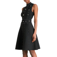2018 Spring & Summer New Beaded Sexy Stretch Knit Dress Women's Dress 180117FH01