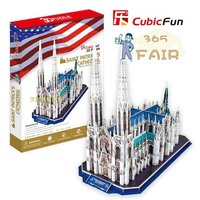 Stereo Puzzles 3d Paper Holy Bart Model In Church Neuschwanstein Castle Germa Kids Educational Toys P2