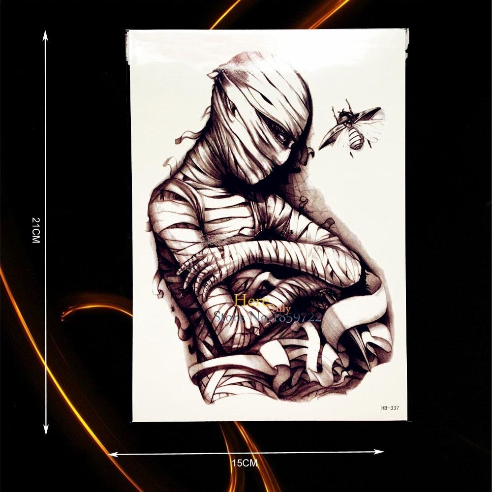 Online Shop 1 PC New 3D Mummy Jangkrik Sketsa Tattoo Tubuh Kembali