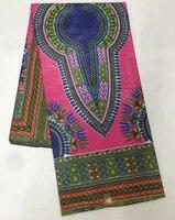 Gratis verzending (6 yards/pc) groothandel fushia roze Afrikaanse java wax prints stof katoen echte wax stof voor maken jurk WXT49-3