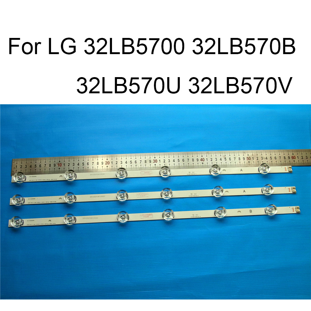 Brand New LED Backlight Strip For LG 32LB570B 32LB570U 32LB570V 32LB5700 TV Repair LED Backlight Strips Bars A B TYPE 6 Lamps