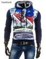 2016 новая мода Толстовка мужчины хит цвет мужчины толстовки хип-хоп 3D Печати костюм тонкий freeshipping костюм