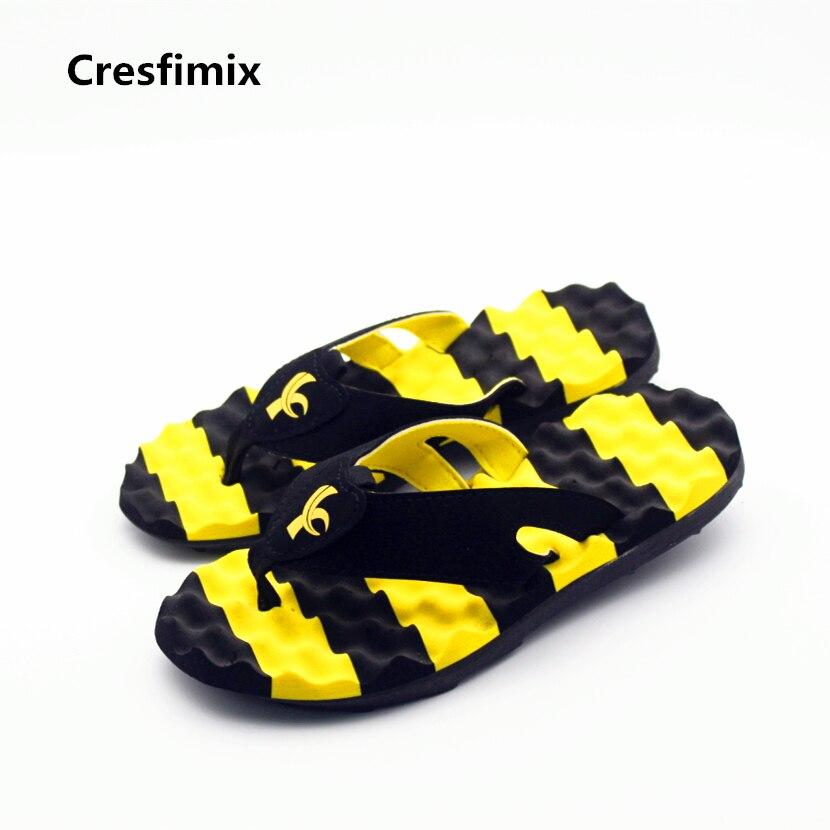 Cresfimix men cool and comfortable beach flip flops male fashion soft outdoor flip flops man's flat flip flops hombres chanclas flip flops carmela flip flops